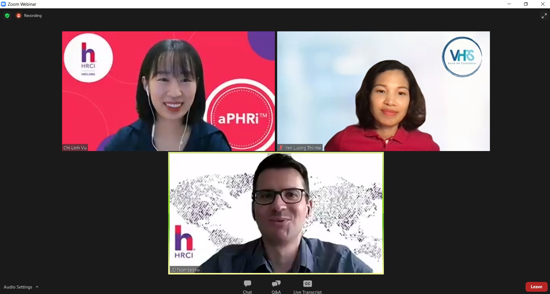 VHRS tổ chức thành công webinar: Define Your HR Career Path with HRCI Certifications