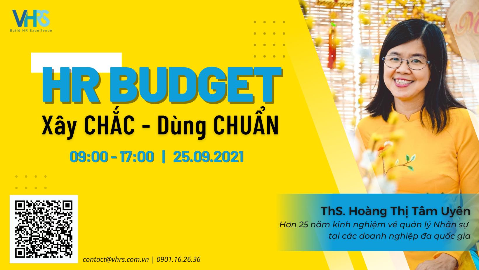 HR Budget poster