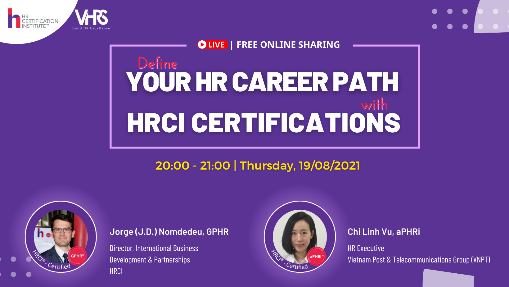 Live Webinar: Define Your HR Career Path with HRCI Certifications